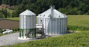 stiffened grain bins